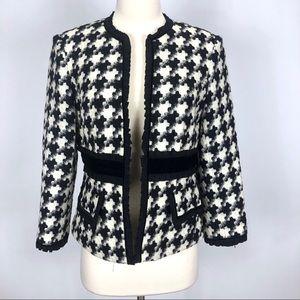 Nanette Lepore Wool Houndstooth blazer